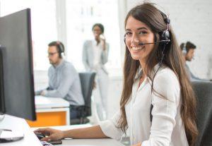 Callcenter-Mitarbeiterin